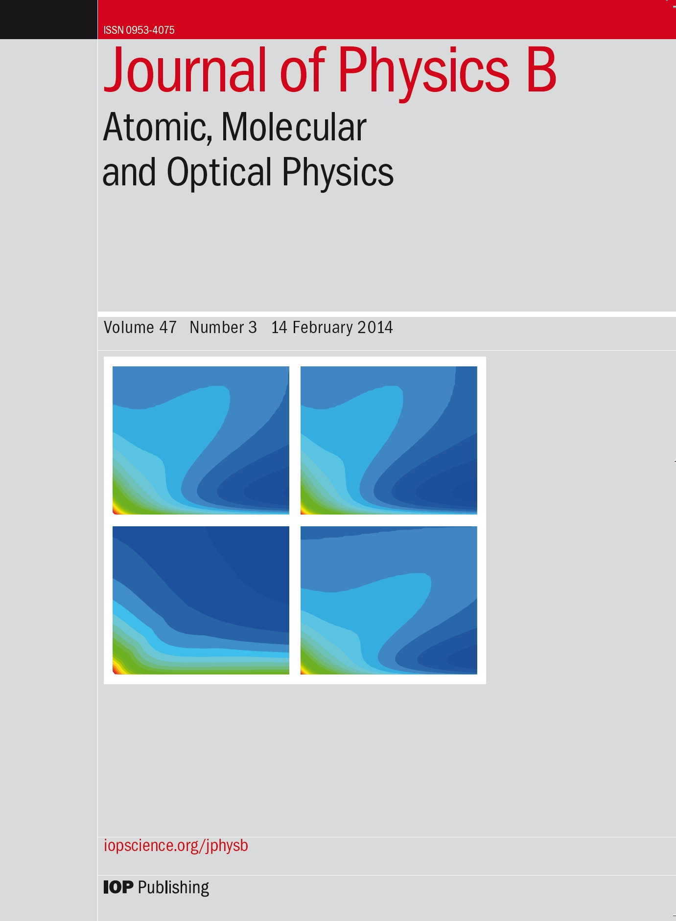 Journal of Physics B Cover