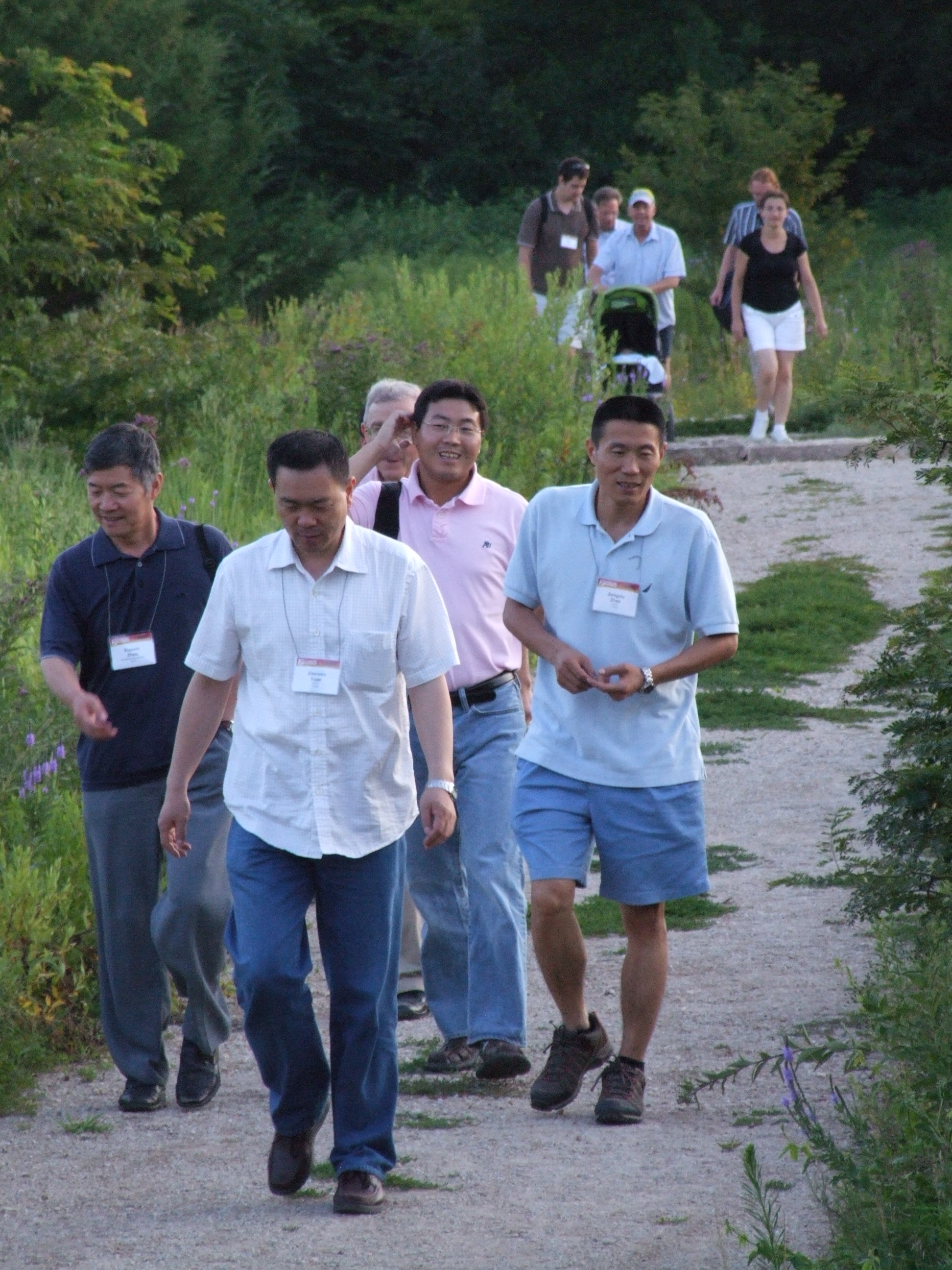 Attosecond Physics 2009 attendees on the Konza Prairie