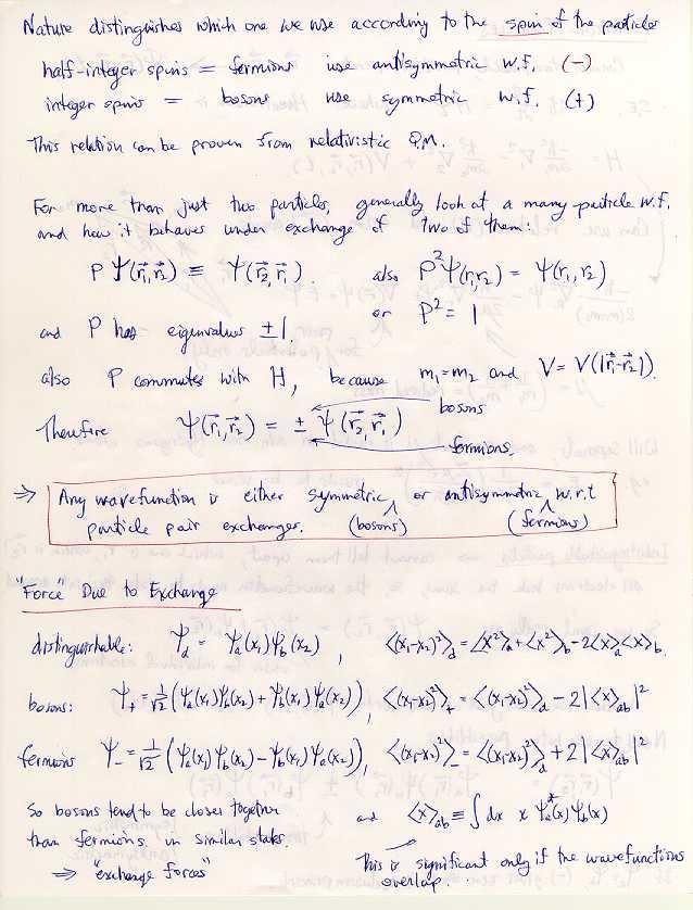 identical particles in quantum mechanics pdf