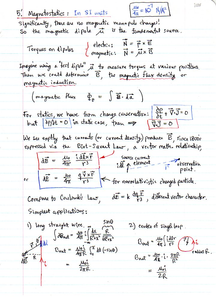 Electrodynamics I, KSU Physics