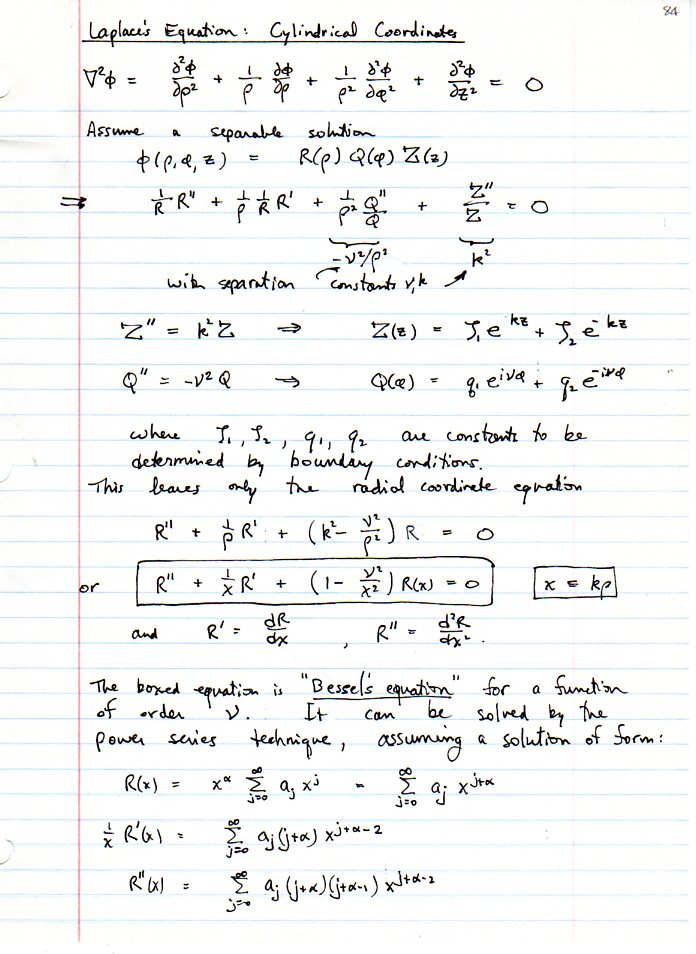 Solution Of Navier Stokes Equation In Cylindrical