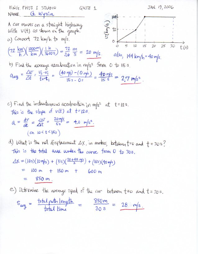 Engineering Physics I, KSU Physics 213, 223