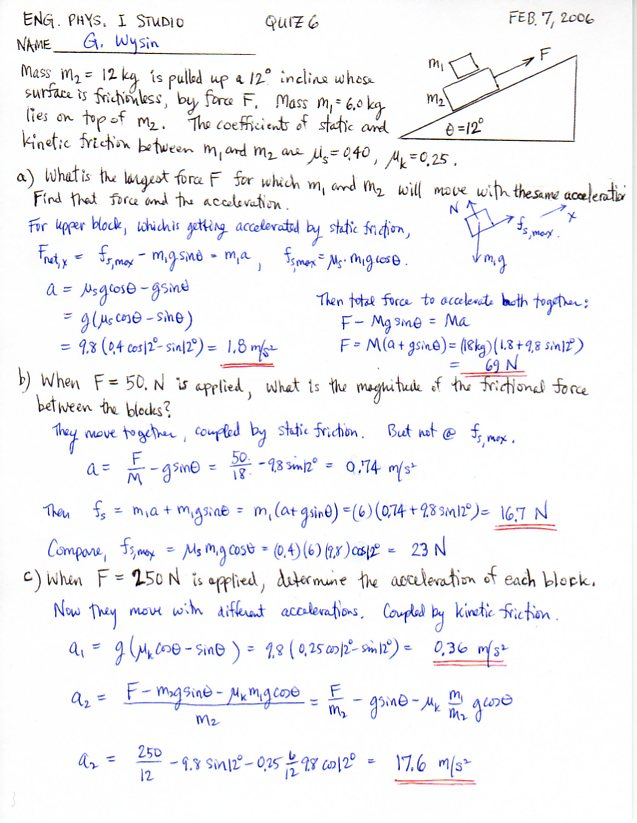 Engineering Physics I, KSU Physics 213, 223